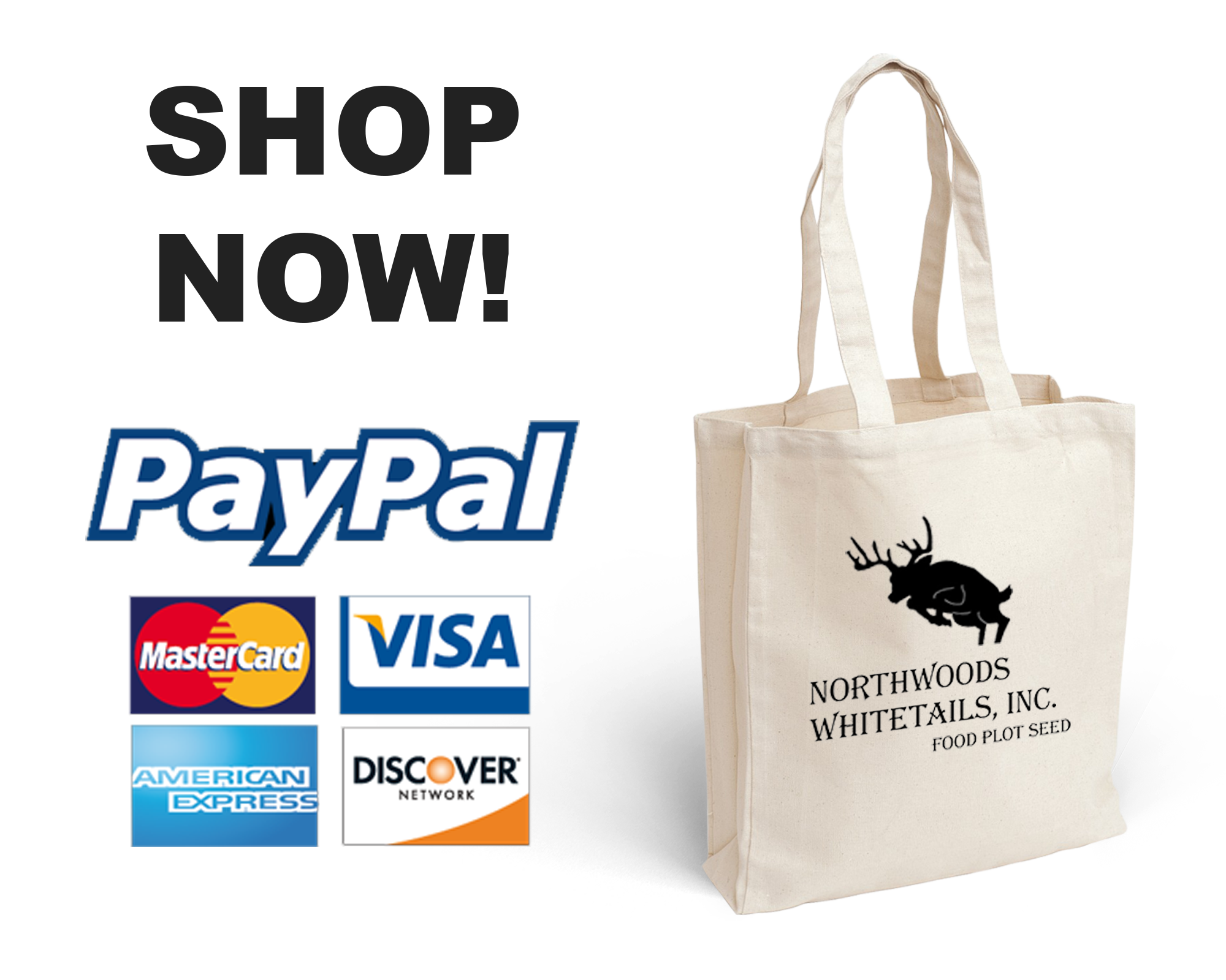 Shop Now - We accept Paypal, Visa, Master Card, American Express, & Discover Card